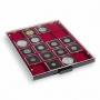 Leuchtturm Münzbox rauchfarben für Münzrähmchen 50x50mm, USA 2x2