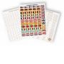 Leuchtturm Sticker-Set 321082/LEEURO3 für Euro-Münzen