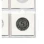 Safe Münzrähmchen 50x50mm Nr. 7830H zum Heften aus Karton für 30