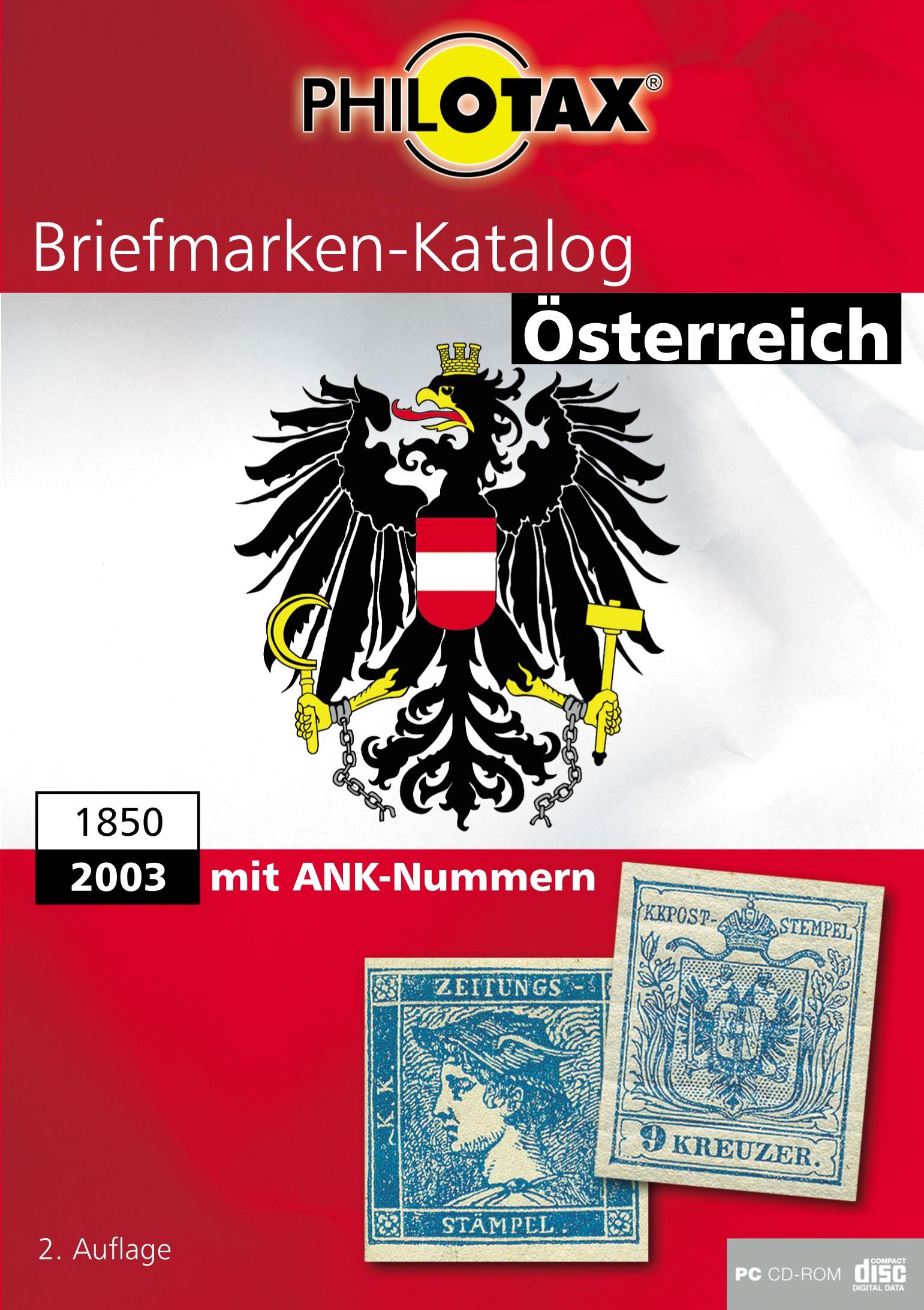 PHILOTAX Österreich 2. Auflage mit Gebieten CD-Rom