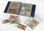 Kobra Banknotenalbum G173 Farbe blau mit 20 glasklaren Folienhül