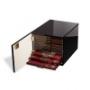 Leuchtturm Münzbox-Kabinett Farbe schwarz für 10 Standard-Münzbo