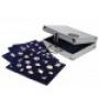 Alu-Koffer für Pins mit 3 königsblauen Samttafeln Nr. 240