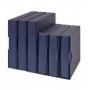 Hartberger Ringbinder Small LUXUS-blau leer Nr. 8200B mit 4-Ring