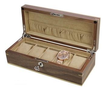 Uhrenkoffer Kopenhagen Walnuss Furnier Nr. 3020