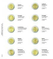 Lindner Vordruckblatt für 2€-Gedenkmünzen Litauen Mai 2016 bis F