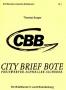 """Burger, Thomas """"City Brief Bote (CBB) ein Briefdienst im Land Br"""