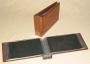 Kobra Briefalbum G9 Farbe dunkelbraun mit 50 glasklaren Taschen