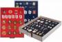 Lindner Sammelbox Nr. 2457 rauchglas rot für Pins, Orden, Abzeic
