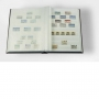 5x A4-Einsteckbuch, 64 weiße Seiten sortierte Farben