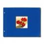 SAFE Design-Fotoalbum Classic Nr. 5826-4 Querformat 20x34cm blau