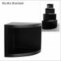 Eckregal, schwarz 50x50cm zum Hängen und Stellen Nr. 5356