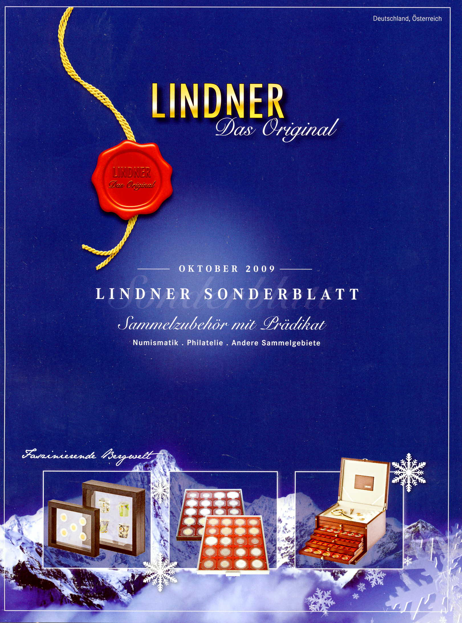 Lindner Sonderblatt Oktober 2009 Preisliste für Sammelzubehör mi