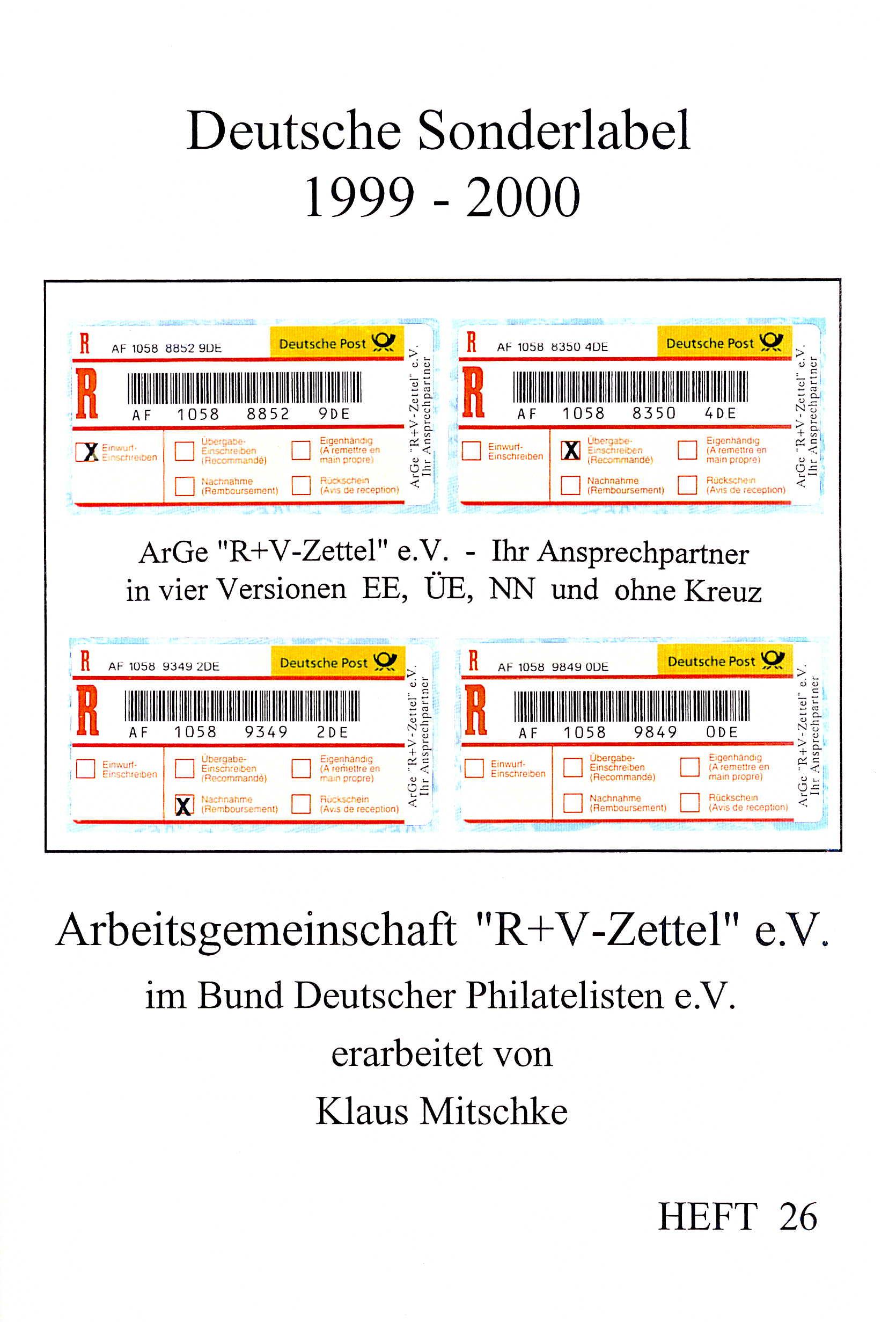 Mitschke Handbuch Deutsche Sonderlabel 1999-2000 1. Auflage 2001
