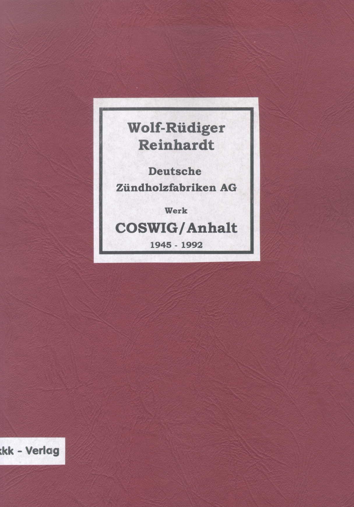 Reinhardt, Wolf-Rüdiger Zündholzschachteletiketten Deutsche Zünd