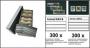 Archivbox Presto A6, bestückt mit 300 Einsteckkarten 158x113mm m