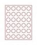 Lindner Münzenbox mit 30 runden Vertiefungen Nr.2701 rauchfarben