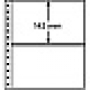 Leuchtturm R-Tafeln 7er Einteilung schwarz 309400/R7C