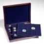 Leuchtturm Holz-Münzkassette MK3TMIXBL für 98 Münzen verschieden