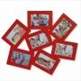 Bilderrahmen Collage rot mit 7 Bilderrahmen Nr. 73659