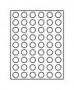 Lindner Münzenbox CARBO 2154C mit 54 runden Vertiefungen
