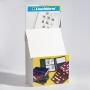 Faltaufsteller aus Karton zur Präsentation von Leuchtturm/KABE P