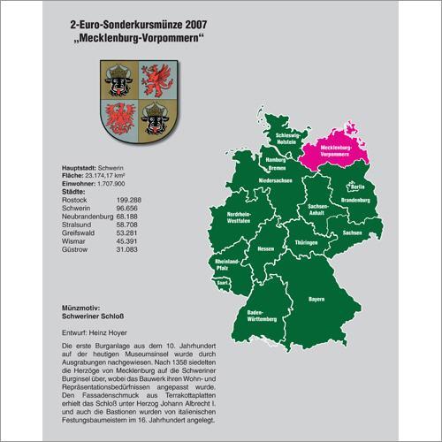 Einzelblatt 2€ Mecklenburg-Vorpommern für TOPset-Album 2€-Bundes