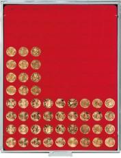 Lindner Münzenbox mit 99 runden Vertiefungen Nr. 2550