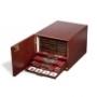Leuchtturm Münzbox-Kabinett Farbe Mahagoni für 10 Standard-Münzb