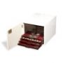 Leuchtturm Münzbox-Kabinett Farbe weiß für 10 Standard-Münzboxen