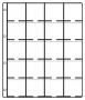 Hartberger Münzenblätter mit 20 Feldern  Standard per 10 Stück