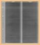 Kobra Ersatzblatt F4 für 4 eingeschweißte Münzen bis 72 x 80 mm
