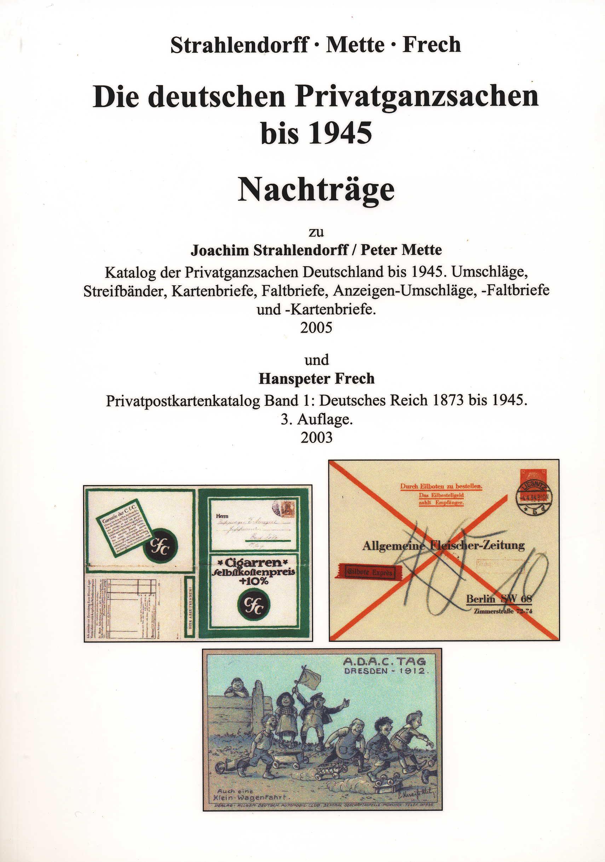 Strahlendorff/Mette/Frech Nachtrag Katalog der Privatganzsachen