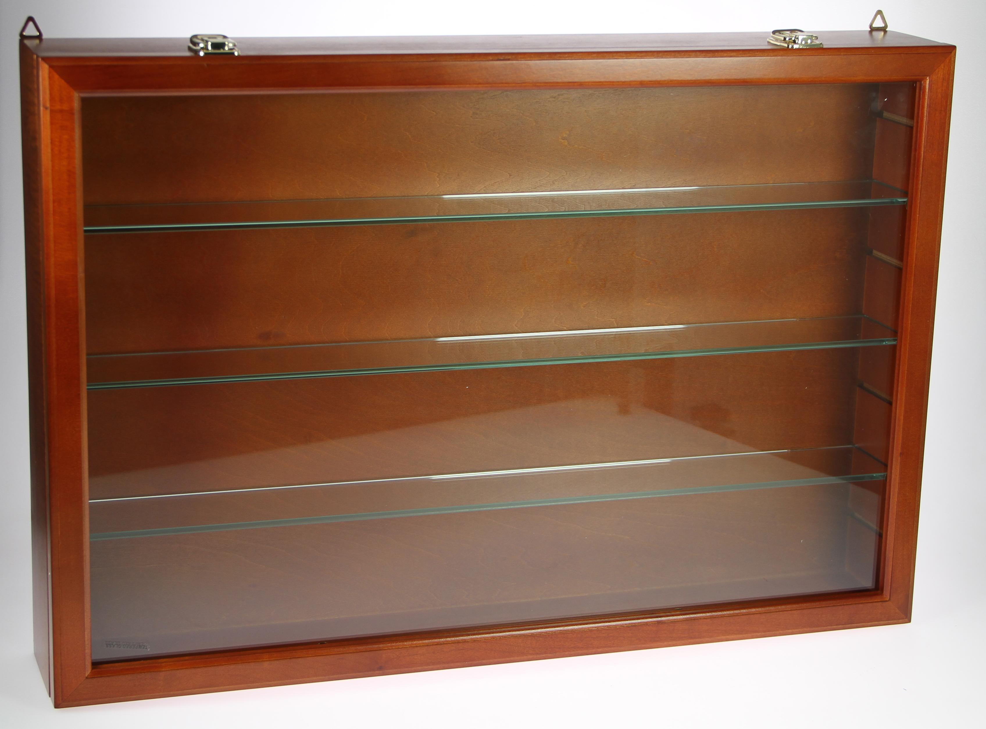 Holz-Sammelvitrine mit 3 Glasböden Nr. 91470