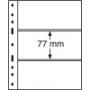 Leuchtturm Kunststoffhüllen 316307/OPTIMA3S, 3er Einteilung, sch