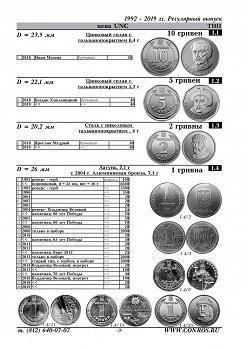Conros Münzen der Ukraine 1992-2020  7. Auflage 2020, 52 Seiten,