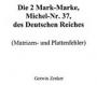 Zenker Die 2 Mark Marke, Michel-Nr. 37, des Deutschen Reiches, M