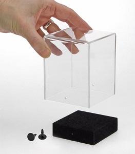 Transparenter Vitrinenwürfel aus Acryl 120x120x140mm Nr. 5288