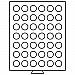 Leuchtturm Münzbox 42runde Fächer (29mm) rauchfarben Nr. 308554