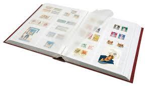 Safe Einsteckbuch 64 weiße S. mit Mittelteilung Farbe weinrot Nr