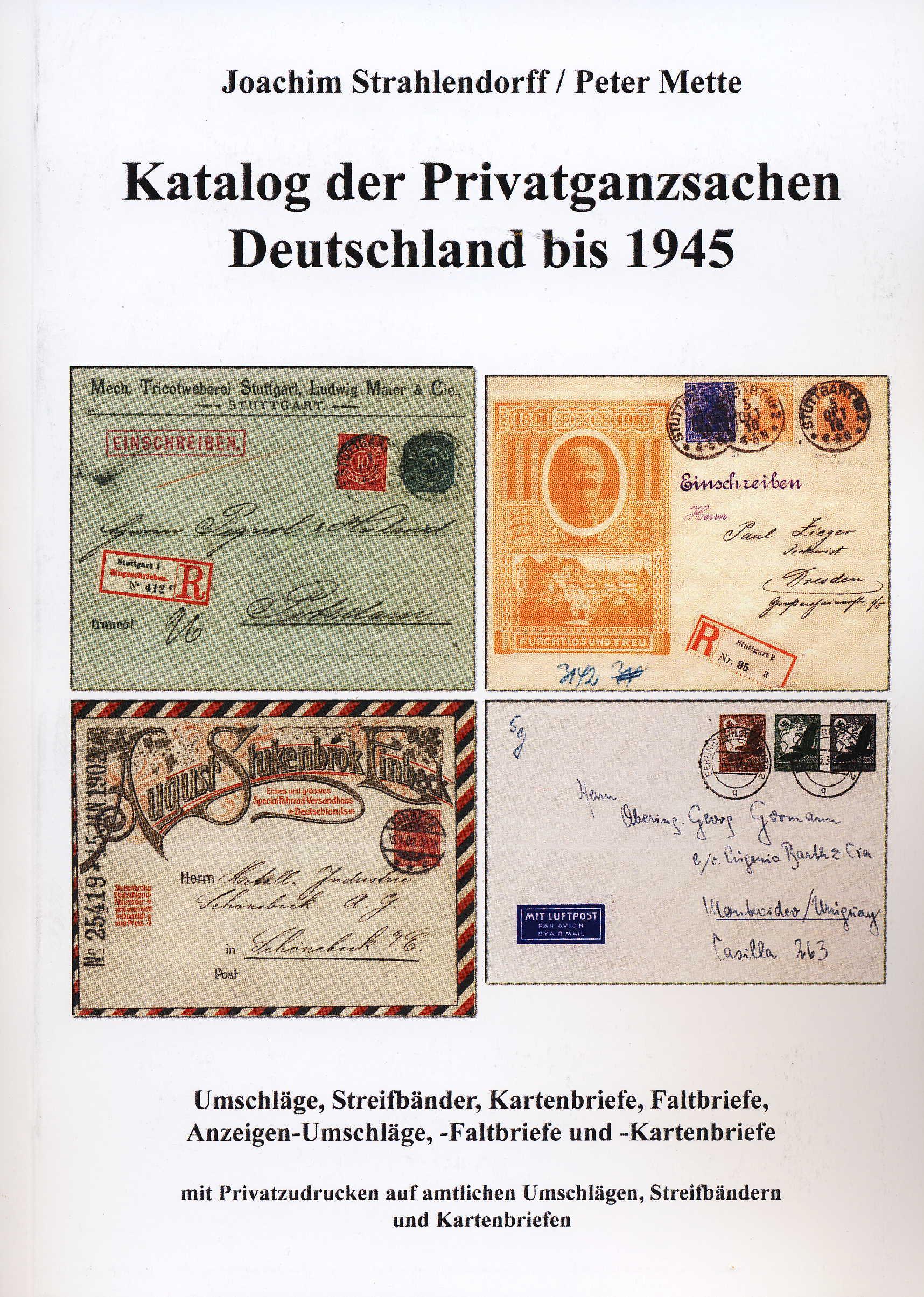 Strahlendorff/Mette Katalog der Privatganzsachen Deutschland bis