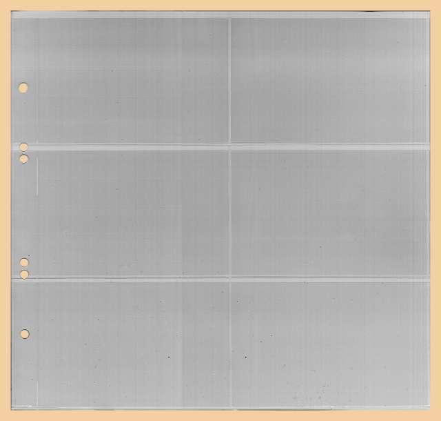 Kobra Ersatzblatt G46E glasklare Einsteckblätter mit 6 Taschen