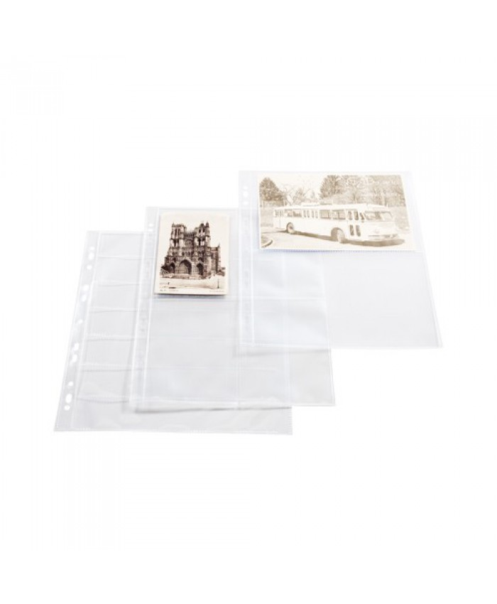 Albumhüllen Panorama Polypropylen mit 9 Taschen 66x92mm für Samm