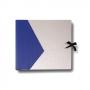 """Design-Fotoalbum """"Bi-Color"""" 23x25,5x4cm blau/silber, mit 20 sc"""