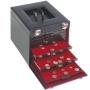 Leuchtturm Münzkoffer schwarzes Kunstleder für 10 Münzboxen 3032