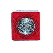 Safe Coin-Münz-Album Nr. 762 mit 4 Blätter für 48 Münzen mit rot
