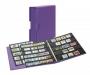 Publica M Color Briefmarkenalbum Viola violett mit passender Sch