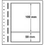LEUCHTTURM Blankoblätter Nr. 319948/LB2MIX, 2er Einteilung, 190x
