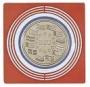 Lindner Münzenbox-Inletts, groß, dunkelrot Nr. 2637 per 10 Stück