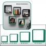 Regalwürfel Set mit allen 4 Größen grün Nr. 4025473053298